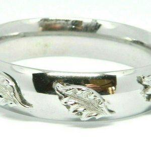Pcraft Leaf Metal Clasp Bangle Bracelet